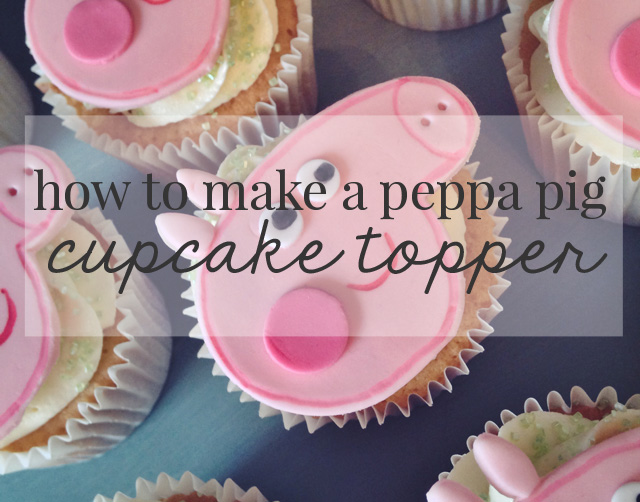 CAKE CLUB | HOW TO MAKE A PEPPA PIG CUPCAKE TOPPER