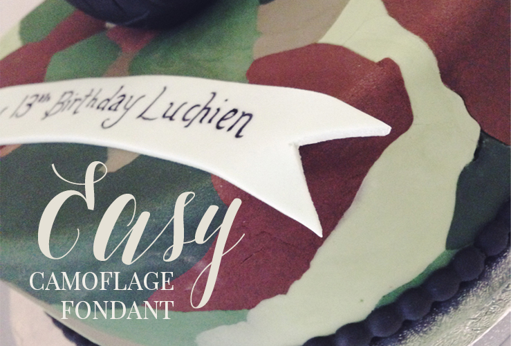 CAKE CLUB | CAMOFLAGE FONDANT THE EASY WAY!