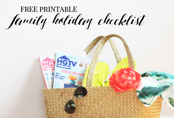 FREE PRINTABLE | OUR FAMILY HOLIDAY CHECKLIST