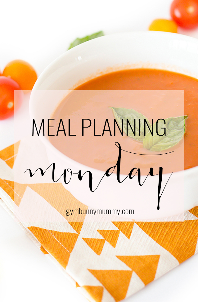 Meal Planning Monday, planning healthy, slimming world friendly meals for the family @gymbunnymum