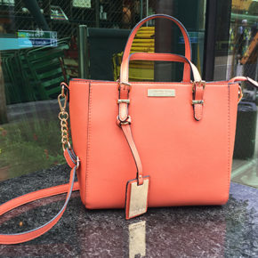 Carvela Danna winged tote in coral, review by @gymbunnymum