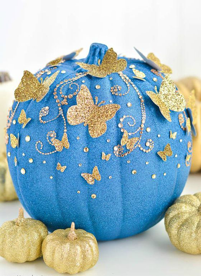 cinderella inspired no carve pumpkin