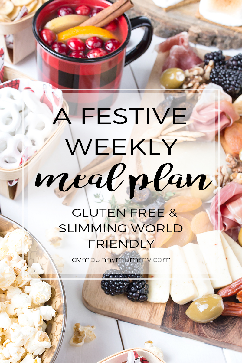 A Festive meal plan, gluten free & SW Friendly options