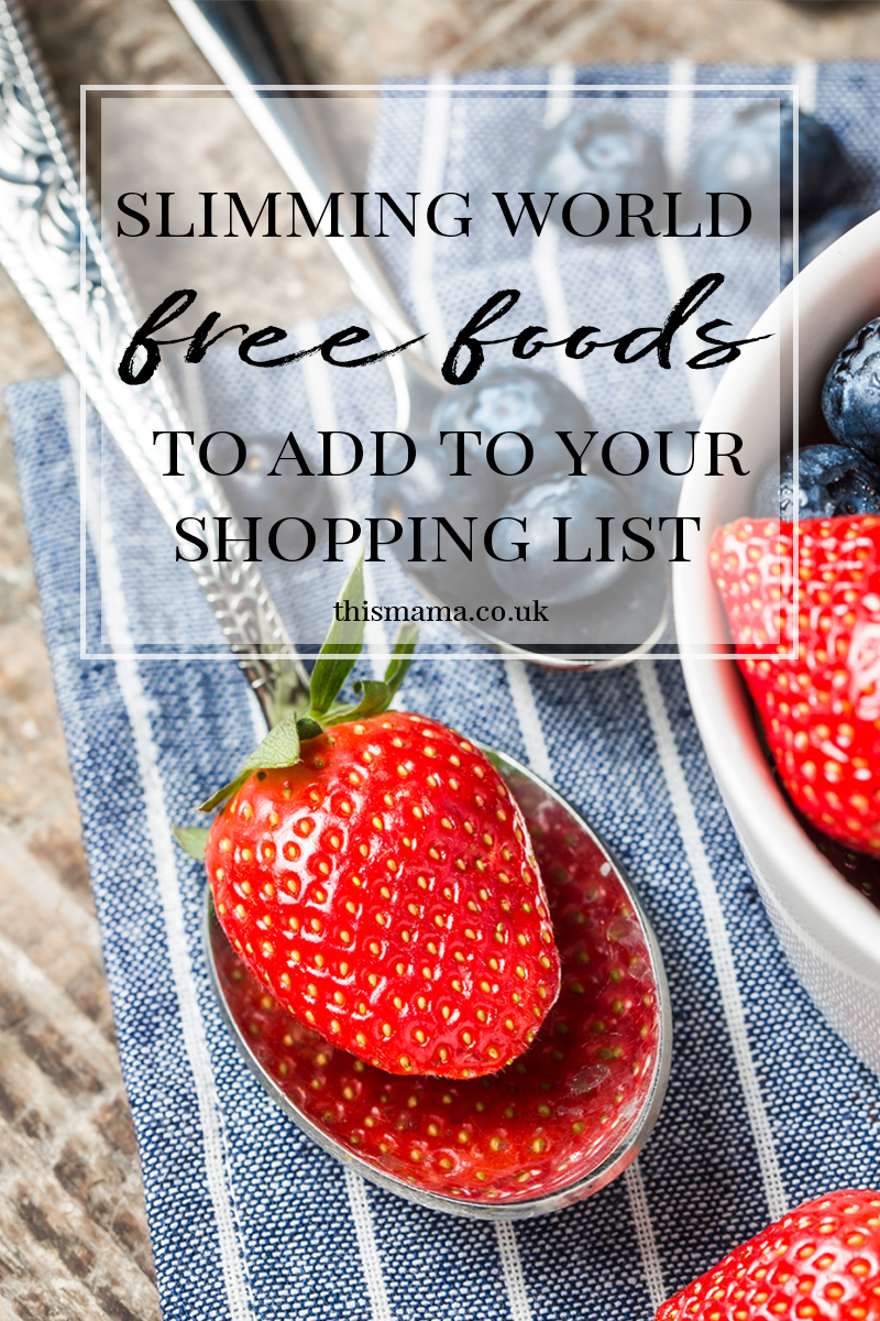 Slimming World Free Foods List
