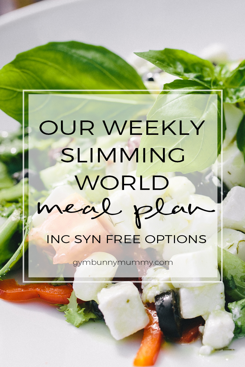 Slimming world meal plan 6th february 2017 this mama a lifestyle blog New slimming world plan