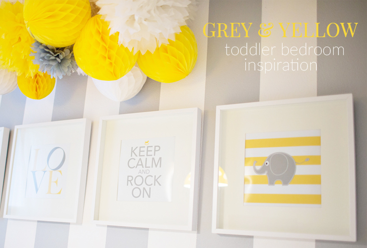 GREY & YELLOW TODDLER BEDROOM INSPIRATION