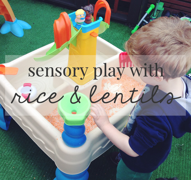 SIMPLE SENSORY PLAY WITH RICE & LENTILS