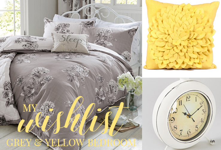 MY GREY & YELLOW BEDROOM WISHLIST