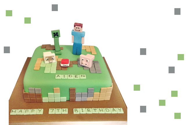 HOW TO MAKE A MINECRAFT CAKE THE EASY WAY