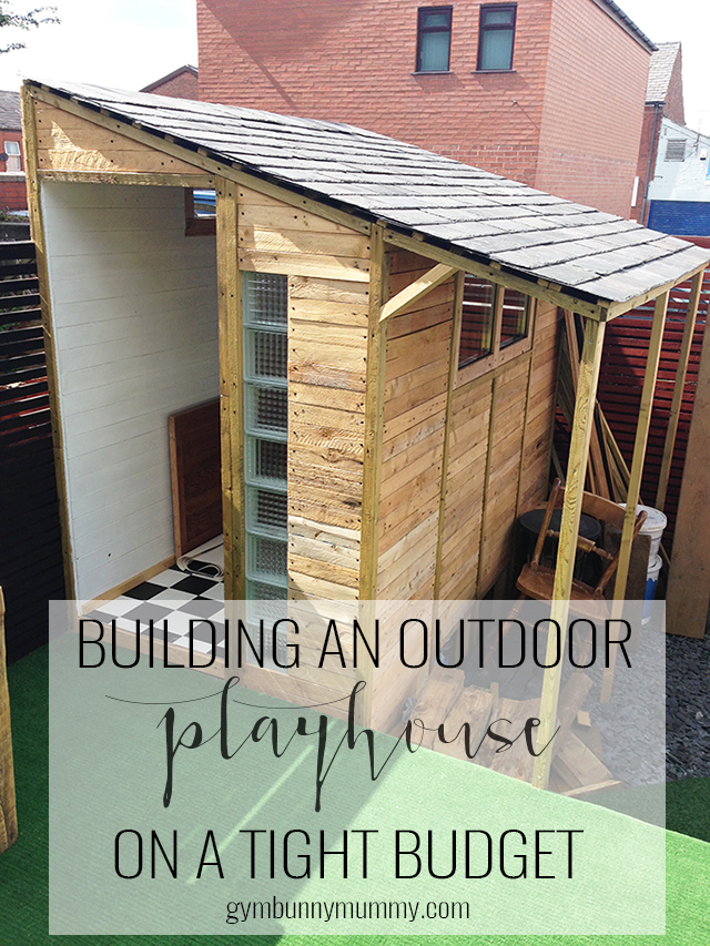 Building An Outdoor Playroom on a Budget. We don't have much space inside so decided we needed to build something outside instead