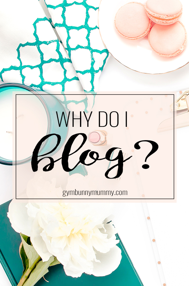 Why do I blog? For so many reasons...