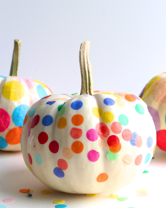 fun & colourful no carve pumpkin designs