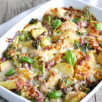 slimming world cheesy bacon potato bake
